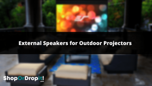 best external speakers for outdoor projectors-min